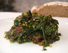 Desde Granada un  rico plato de espinacas con mucho sabor