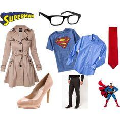"""Lois Lane & Clark Kent Halloween Costumes"" by mandyraewarren on Polyvore"
