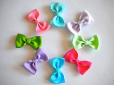 Such cute hair bows for your little cutie! #hairbow #hair clip #children #teens #SAteamEtsy