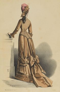 Le Moniteur de la Mode, Promenadedress, 1876
