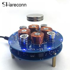 Shareconn 2018 Intelligent magnetic levitation push type magnetic levitation DIY Kit DC9V 1A Intelligence Suspension magnetic  Price: 52.00 & FREE Shipping  #fashion #sport #tech #lifestyle Magnetic Levitation, Shipping Packaging, Natural Disasters, Diy Kits, Consumer Electronics, Magnets, Tech, Free Shipping, Sport