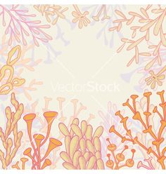 Abstract background with corals vector - by An_Mi on VectorStock®
