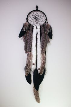 The Coyote Dreamcatcher  Modern Boho Wall by TheDreamerWeaver
