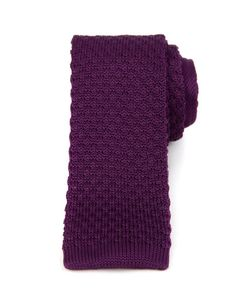 Textured knitted tie - Purple | Ties & Pocket Squares | Ted Baker