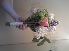 DIY Wedding Bouquet! Not as hard as you'd think :D We're not using this one - it has the wrong colors, I was just practicing my bouquet skills :P