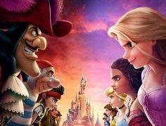 Pirates and princesses - disney - disneyland paris disney crossovers, disne Disney Pixar, Disney Animation, Disney Magic, Heros Disney, Disney And Dreamworks, Frozen Disney, Disney Princess Drawings, Disney Princess Art, Disney Fan Art