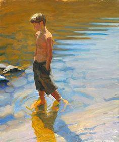 Jeffery T. Larson (Two Harbors, Minnesota River Walk, 2005 L'impressionismo contemporaneo Painting People, Figure Painting, Painting & Drawing, Figure Drawing, Art And Illustration, Painting Inspiration, Art Inspo, Art Amour, Figurative Kunst
