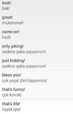 This Pin was discovered by Olg Learn Turkish Language, Learn A New Language, English Idioms, English Lessons, Learn English Kid, Turkish Lessons, Language Study, Classroom Language, New Words