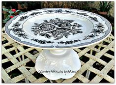 Black and White Toile Cupcake Stand / by GardenWhimsiesByMary, $20.00