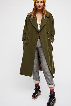 Slide View 2: Slouchy Wool Coat