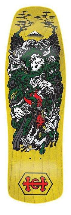 """Hosoi Santa Cruz Monk Deck 30.5"""" x 9.4"""". This is a piece of history that never made it into production until now. A Santa Cruz deck made for Christian Hosoi with artwork by Jim Phillips. Hosoi left Sa"""