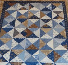 Blue berry crumbcake twin/lap size quilt by 4quiltsandmore on Etsy