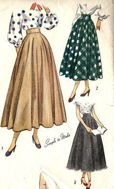 1940s Misses Skirt