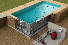 Pool selbst bauen Swimming Pool Installation Tecnica Soleo Private Tuition - How To Find A Good Tuto Oberirdischer Pool, Swimming Pool Construction, Swiming Pool, Diy Pool, Swimming Pools Backyard, Swimming Pool Designs, Small Backyard Pools, Backyard Pool Designs, Small Pools