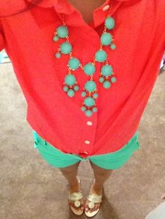 My favorite color combination! LOVE this bright & bold look! | Keep Your Heels, Head, and Standards High.