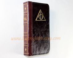 Leather Phone Wallet-Leather book wallet case with Deathly Hallows-Case for iphone 4 4s 5 5s case,Samsung galaxy S3 S4 S5 NOTE 2 NOTE 3 CASE on Etsy, $16.99