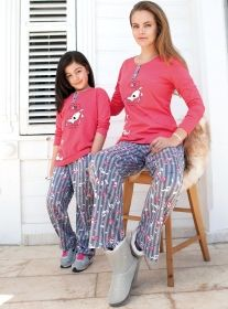 Yeni İnci Anne-Kız Bayan Pijama Takımı  Yeni inci 2014-2015 kış pijama koleksiyonu. #cocukpijama #pijamatakimi