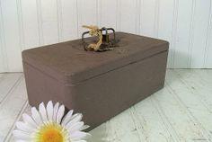Grey Textured Steel Tool Box  Vintage Swanco by DivineOrders, $14.00
