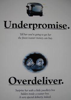 Underpromise. Overdeliver.  #Gifts #Orangeville #SurpriseHer