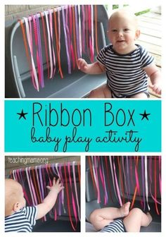 Ribbon Box Baby Play Activity Ribbon Box Baby Play Activity The post Ribbon Box Baby Play Activity appeared first on Toddlers Diy. Infant Sensory Activities, Baby Sensory Play, Montessori Activities, Baby Play, Montessori Toddler, Free Activities, 7 Month Old Baby Activities, Baby Sensory Ideas 3 Months, Baby Room Activities
