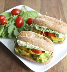 Italian Veggie Sliders with Whipped Pesto and Feta Spread