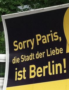 Sorry Paris, but the city of love is Berlin!