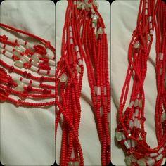 Red glow-n-the-dark waistbeads
