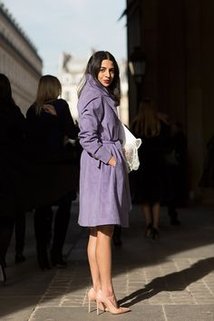 On the Street…Musee du Louvre, Paris. Love that color! #sartorialist