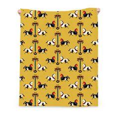 My design inspiration: Horses Linen Throw on Fab.