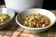 "Chicken Noodle Soup via Smitten Kitchen  ""Garnish with dill or parsley, dig in and let it fix everything that went wrong with your day."""