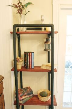 pvc pipe book shelves idea