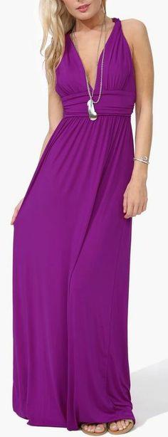 Orchid V-Neck Maxi Dress