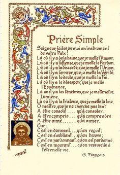 Prière de Saint françois                                                                                                                                                      Plus