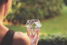 Mini Geometric Terrarium Diamond (Display with Multiple Hanging) | Laser Cutting