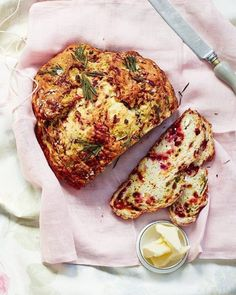 A quick-to-make soda bread, studded with beetroot and feta, makes a wonderful addition to any summer picnic or al fresco lunch. # savoury Baking Beetroot and feta soda bread Savory Bread Recipe, Bread Recipes, Cooking Recipes, Cake Recipes, Savoury Baking, Bread Baking, Savoury Dishes, Veggie Recipes, Vegetarian Recipes