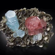 Fluorapatite (Apatite Group) | #Geology #GeologyPage #Mineral    Locality: Nagar, Hunza Valley, Gilgit District, Gilgit-Baltistan (Northern Areas), Pakistan    Dimensions: 13.0 x 8.0 x 9.0 cm    Photo Copyright © MIM Museum    Geology Page  www.geologypage.com