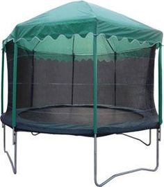 Trampoline Tent Top / Play Roof - Fantastic Play Accessory and Cover Trampolines, Playhouse Outdoor, Outdoor Play, Professional Trampoline, Backyard Trampoline, Trampoline Ideas, Roof Covering, Play Houses, Cubby Houses