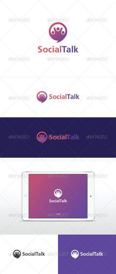 Social Talk - Logo Design Template Vector #logotype Download it here: http://graphicriver.net/item/social-talk/6609703?s_rank=725?ref=nesto