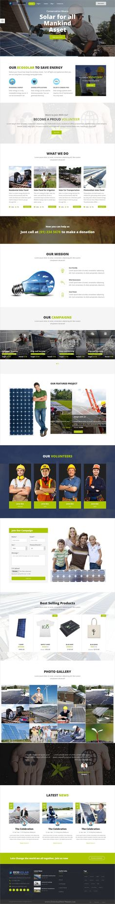 EcoSolar is a wonderful 2in1 responsive #HTML5 bootstrap template for #environment, recycling, solar and #renewable energy company websites download now➩  https://themeforest.net/item/ecosolar-nonprofit-environment-recyling-solar-html5-template/19393499?ref=Datasata
