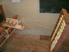 sectional warping spool rack + tension box