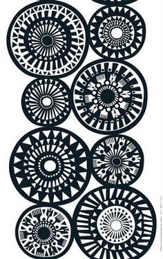 Graphic Design - Pattern Design - Marimekko - such a graphic quality in black and white Pattern Design : – Picture : – Description Marimekko – such a graphic quality in black and white -Read More – Design Textile, Textile Patterns, Fabric Design, Print Patterns, Marimekko, Surface Pattern Design, Pattern Art, Zentangle, Backgrounds Wallpapers