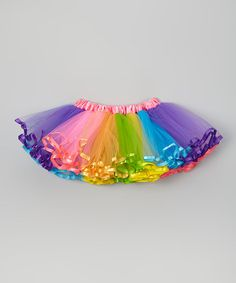 Look what I found on #zulily! Hot Pink & Rainbow Pettiskirt - Infant, Toddler & Girls #zulilyfinds