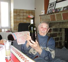 Pastis with Mr. Garcia, our 92 yearold neighbor! #retreat#france