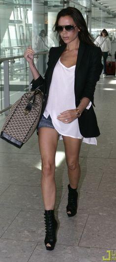 Victoria Beckham - Airport - Shorts & Blazer