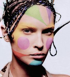 Gorgeous creative makeup on top model Erin Wasson.