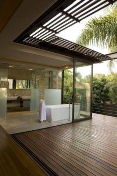 Bathroom with private patio/balcony