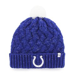 14ec23ebd06bd Indianapolis Colts Fiona Cuff Knit Royal 47 Brand Womens Hat