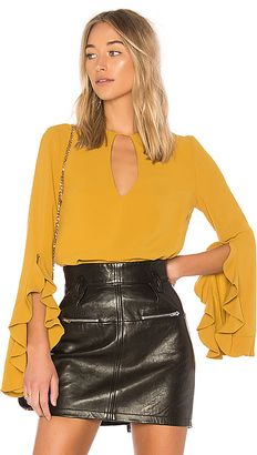 0458020346e Shop for C MEO Gossamer Long Sleeve Top in Chartreuse at REVOLVE. Free day  shipping and returns