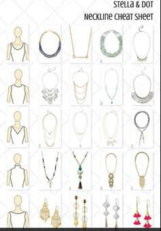 Shop Stella & Dot for jewelry, bags, accessories, and clothing for trendy women. Stella & Dot is unique in that each of our styles are powered by women for women. Shop Stella & Dot online or in stores, or become a independent ambassador and join our team! Fashion Terms, Fashion Mode, Fashion Advice, Stella Dot, Necklace For Neckline, Necklace Guide, Lariat Necklace, Fashion Vocabulary, Fashion Dictionary