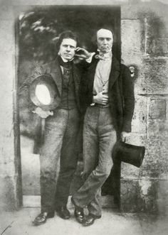 David Octavius Hill and Robert Adamson, D. O. Hill and W. B. Johnstone, c. 1845, Calotype